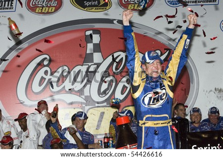 CONCORD, NC - MAY 30:  Kurt Busch wins the Coca-Cola 600 NASCAR Sprint Cup race at the Charlotte Motor Speedway in Concord, NC on May 30, 2010.