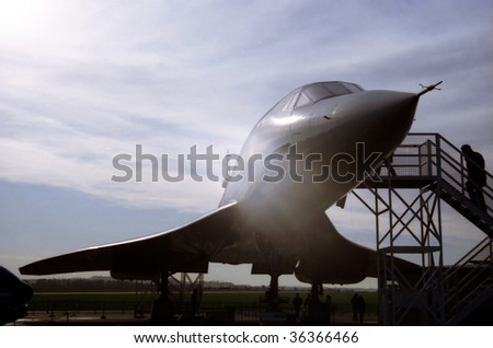 Concorde Prototype at Duxford caught in the sunset