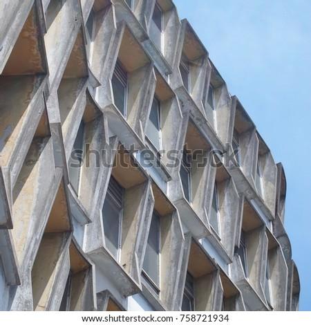 concrete architecture facade #758721934