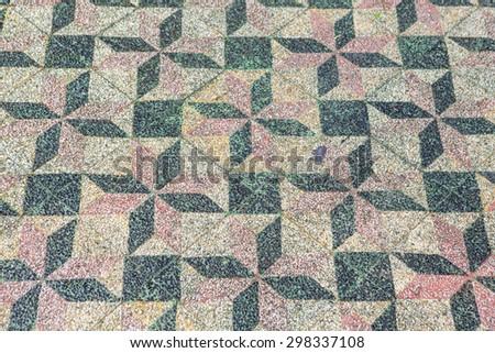 Concrete block pathway