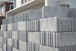 Concrete Blocks on a Construction Site