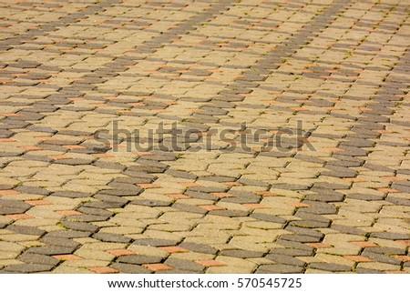 concrete brick floor in urban city street background #570545725
