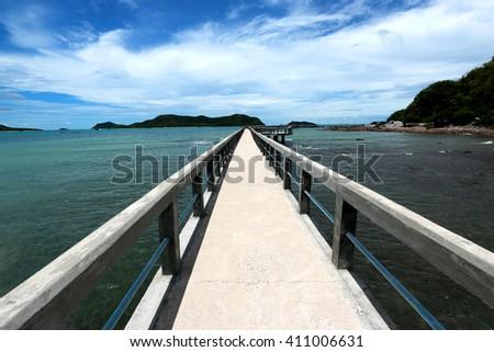 Concrete bridge on the sea, Thailand #411006631