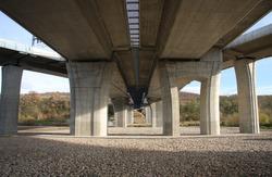 Concrete bridge pillars