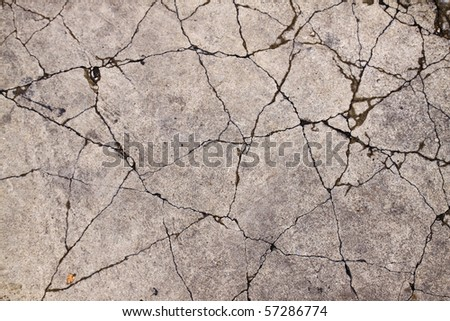 Concrete crack - stock photo