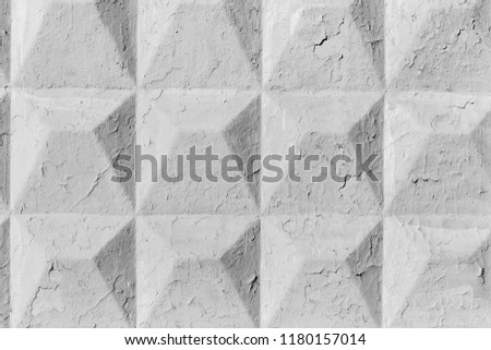 Concrete cracked wall with rhombuses pattern background #1180157014