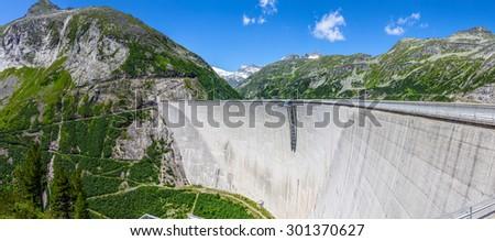 Concrete dam wall of Maltatal, Austria Stock photo ©