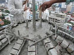 Concrete doom of a 20-storey building in the center of Phnom Penh.