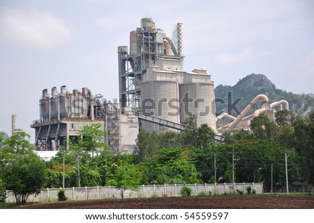 Concrete factory or cement heavy industry manufacturing