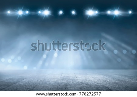 Concrete floor with white lamp spotlight for background #778272577