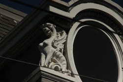 Concrete Gargoyle Window Statue