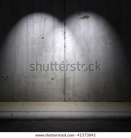 Concrete grunge interior with multiple spotlights