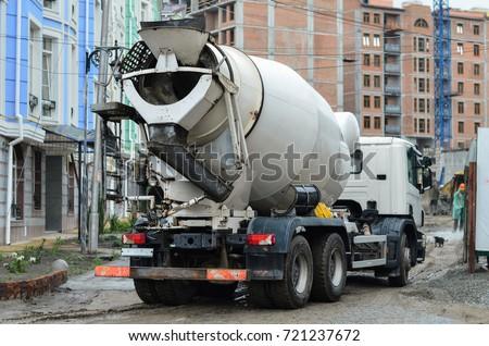 concrete mixer on construction