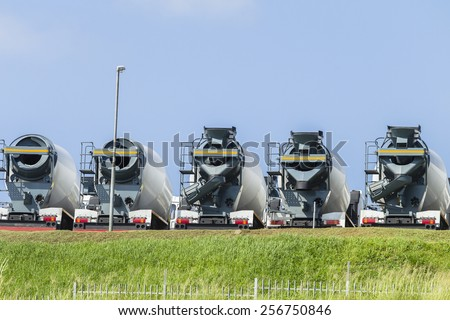 Concrete Mixer Truck Vehicles\ New  concrete cement ready mixer mobile truck vehicles for the building industry