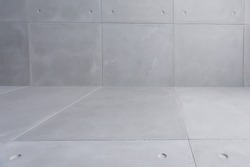 concrete panels with dots wall and floor wallpaper background