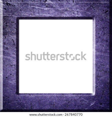 Concrete picture frame isolated on white background,isolated on white background, with clipping path