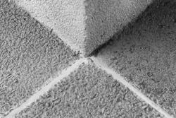 concrete pillar corner in black and white