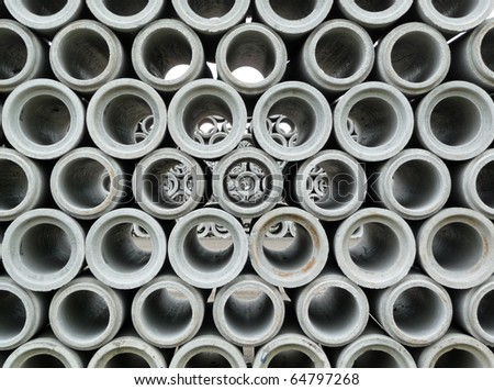 Concrete pipe abstract background