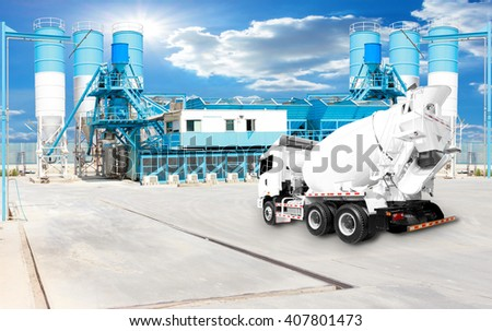 Concrete plant and A Cement Delivery Lorry
