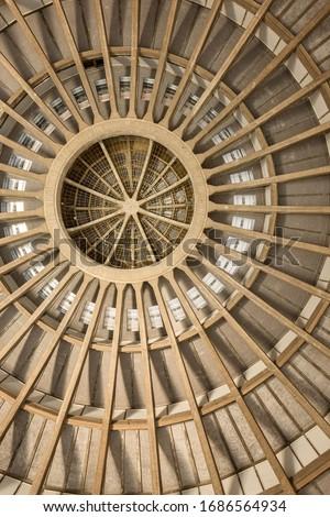 Concrete rib vault of Hala Stulecia - (Centennial Hall) Stok fotoğraf ©