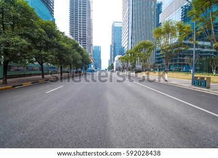 concrete road curve of viaduct in china outdoor #592028438