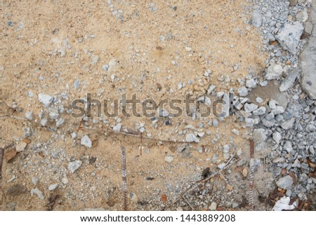 concrete rubble and sand background