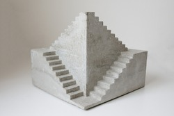 concrete sculpture staircase artwork architecture model casting modern art