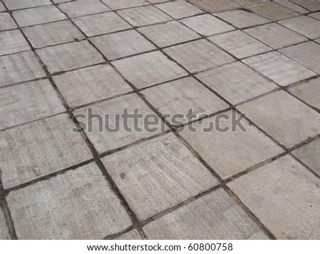 Concrete sidewalk pavement useful as a background