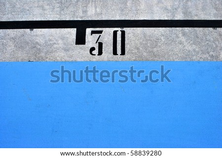 concrete slab with colored stripes texture numbers
