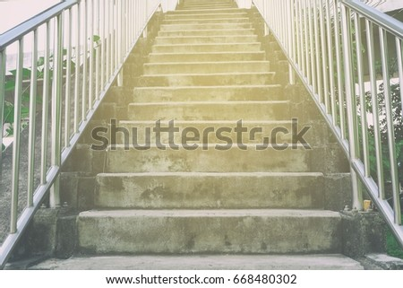 concrete stair of overpass with ...