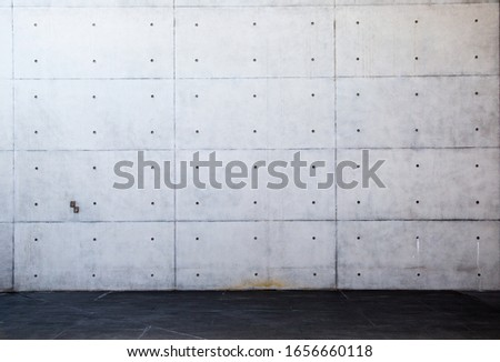 Concrete stairs and stairs wall
