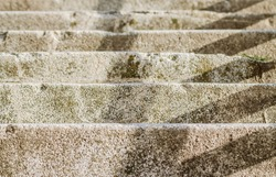 Concrete stairs on the bridge