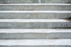 Concrete stairs. Texture of gray fresh concrete