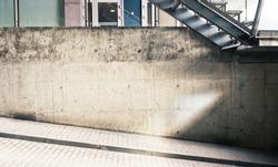 Concrete street wall