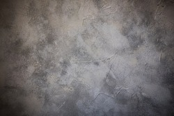 Concrete texture, loft interior wall background. Vignette