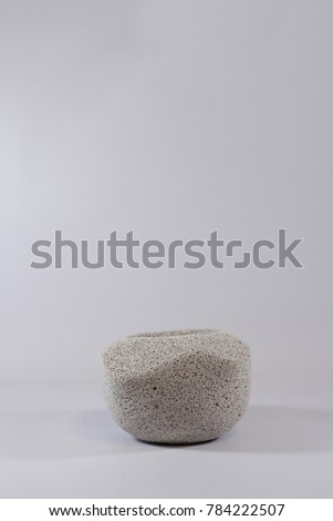 Concrete vase abstract shape on isolated white background #784222507