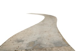 concrete walk way isolated include clipping path on white background