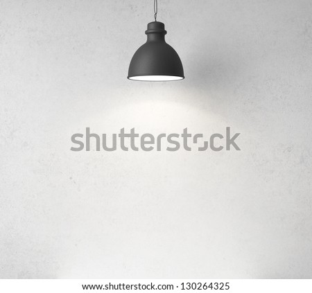 concrete wall and ceiling lamps #130264325