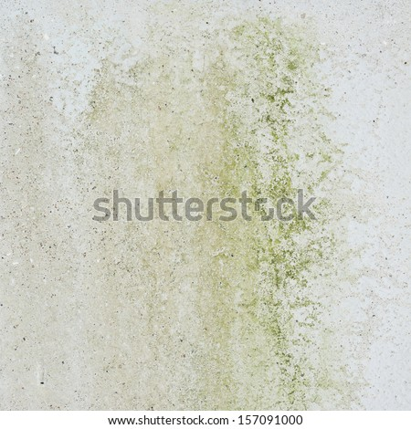 Concrete wall covered with mold as abstract background composition