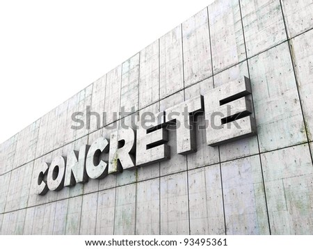 concrete wall with concrete sign