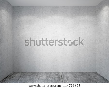 Concrete walls room