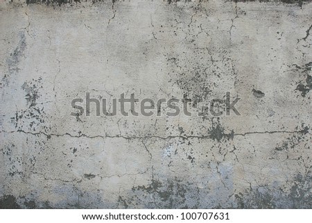 Concrete, weathered, worn, painted white. Landscape style./ Grungy Concrete Surface /  Great background or texture.