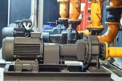 Condenser water pump , chiller water pump, Condenser water pump in the basement , chiller water pump in the basement