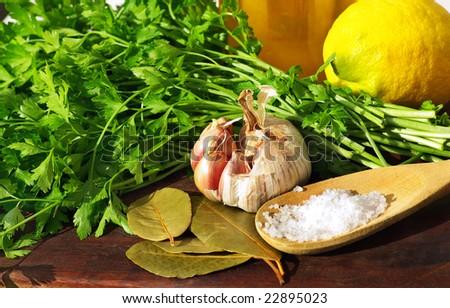 Condiments of Mediterranean Cuisine.