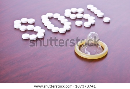 Condom and text SOS composed with pills as prevention of undesirable pregnancy