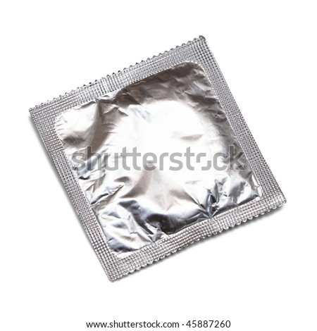Condom isolated on white background