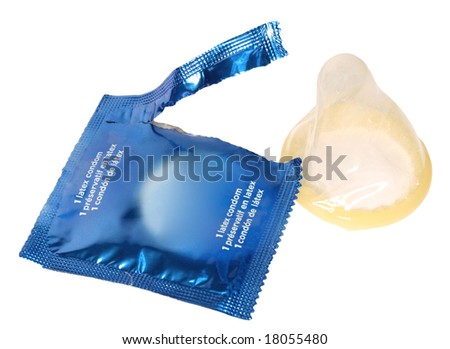 condom isolated (with clipping path)