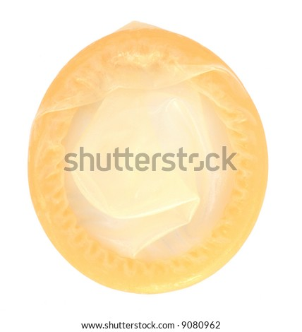 Condom, isolated, with clipping path
