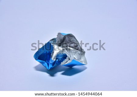 Condom maul white background and shiny #1454944064