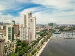 Condominiums lined along Roxas Boulevard, one of the most well known avenues in Metro Manila